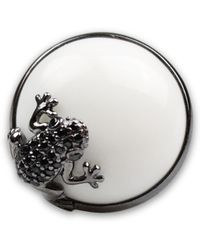 Bellus Domina - Sterling Silver Frog Cocktail Ring - Lyst