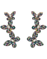 LÁTELITA London Colourful Butterfly Drop Earrings Gold - Metallic