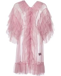 Supersweet x Moumi - Tulle Babydoll In Dusty Pink - Lyst