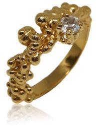 Karolina Bik Jewellery Mammatus Ring Gold With White Topaz - Metallic