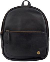 MAHI Mini Backpack In Ebony Black Full Grain Leather