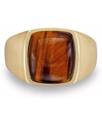 f9da063559e68 Chatoyant Yellow Tiger Eye Ring - Multicolour
