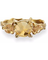 Chupi - Tiny Twinkle In The Wild Citrine Ring In Gold - Lyst