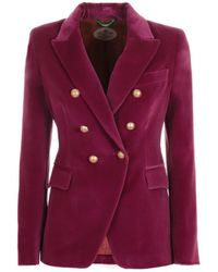 The Extreme Collection Purple Crossed Blazer Constantine