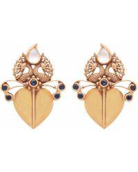 Carousel Jewels | Blue Lapis & Crystal Peacock Earrings | Lyst