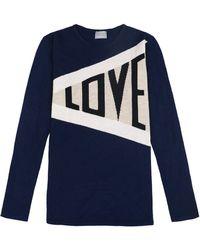 Orwell + Austen Cashmere - Love Sweater In Navy - Lyst