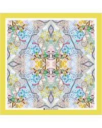 Jessie Zhao New York Silk Scarf In Yellow With Underwater Imagination - Multicolour