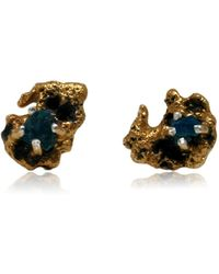 Karolina Bik Jewellery - Out Of The Sea Earrings With Raw Apatite - Lyst