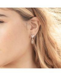 Augustine Jewels Green Amethyst & Morganite Drop Earrings