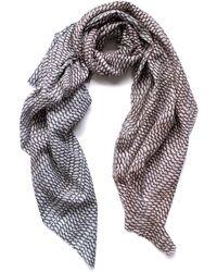 Arlette Ess Fishskin Large Silk Cotton Scarf - Multicolour