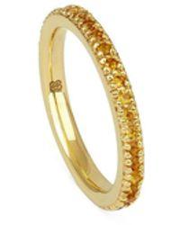 Ottoman Hands Skadi Gold Band Ring With Citrine - Metallic