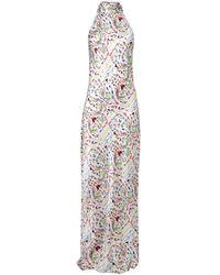 Jessica Russell Flint High Neck Maxi Dress - Multicolour