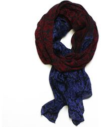 lords of harlech - Ombré Paisley Scarf In Wine - Lyst