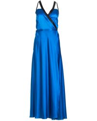 Roses Are Red Dory Silk Dress In Royal Blue