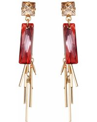 Nadia Minkoff - Baguette Cluster Earring Magma - Lyst