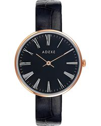 ADEXE Watches - Sistine Petite Black & Rosegold - Lyst