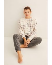 Women'secret Pijama largo sherpa Moomin - Blanco