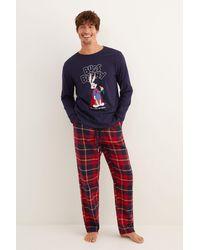 Women'secret Pijama largo hombre azul Bugs Bunny