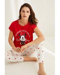 Women'secret Pijama Minnie algodón - Rojo