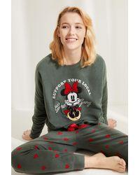 Women'secret Pijama polar Minnie - Neutro