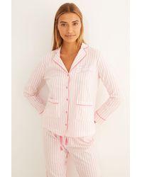 Women'secret Pijama largo camisero La Vecina Rubia - Rojo