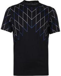 Neil Barrett - Football Net Black T-shirt - Lyst