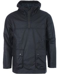 Barbour White Label Waxed Cotton Smock Jacket - Blue