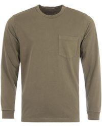 Nudie Jeans - Rudi Long Sleeve Pocket T-shirt - Army Green - Lyst
