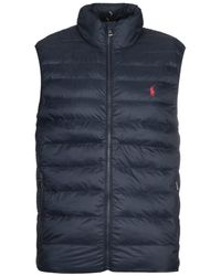 Polo Ralph Lauren Sustainable Packable Gilet - Navy - Blue