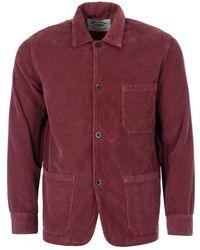 Portuguese Flannel Labura Corduroy Jacket - Red