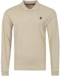 BBCICECREAM Astro Logo Long Sleeve Polo Shirt - Multicolour
