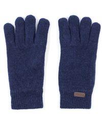 Barbour Carlton Fleece Lined Wool Gloves - Blue