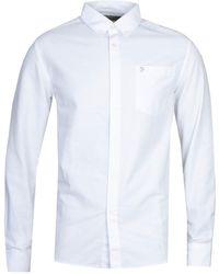 Farah Drayton Modern Fit Oxford Shirt - White
