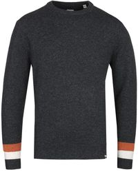 Pretty Green - Mcara Crew Neck Charcoal Knitted Sweater - Lyst