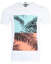 Tommy Hilfiger Photoprint Organic Cotton T-shirt - White
