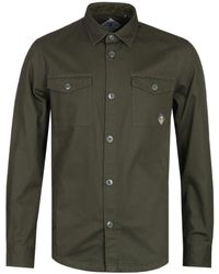 Barbour Forest Green Double Pocket Overshirt
