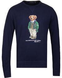9b82b693 Gucci Teddy Bear Cotton Sweatshirt in Pink for Men - Lyst