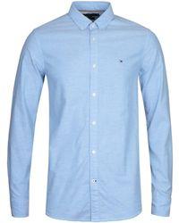 Tommy Hilfiger - Blue Slim Fit Oxford Shirt - Lyst