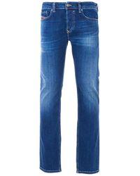DIESEL Safado Straight Fit Jeans - Faded Dark Blue