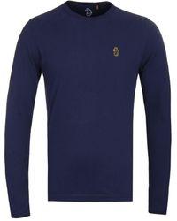 Luke 1977 Trouser Snake Navy Long Sleeve T-shirt - Blue