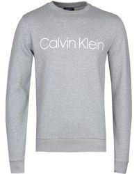 Calvin Klein - Kai Grey Marl Crew Sweatshirt - Lyst