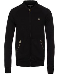 True Religion | Black Baseball Blousin Jacket | Lyst