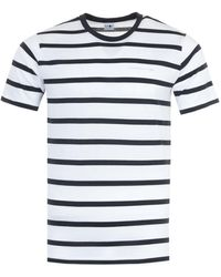NN07 Aspen Striped Sustainable T-shirt - Blue & White