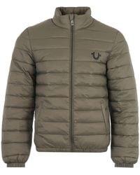 True Religion Slim Nylon Puffer Jacket - Green