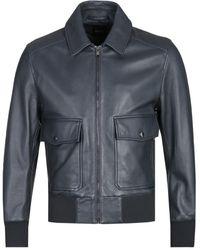 BOSS Gonnel Onyx Black Leather Jacket
