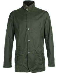 Barbour - Lutz Olive Green Waxed Jacket - Lyst