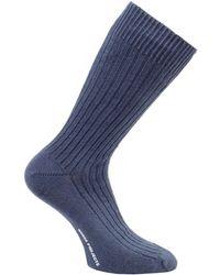 Norse Projects Bjarki Paper Cotton Socks - Navy - Blue