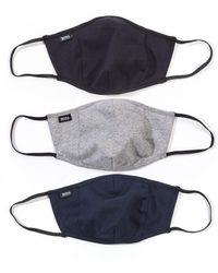BOSS by Hugo Boss Bodywear 3 Pack Facemask - Grey