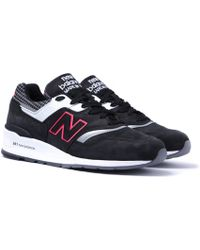 New Balance - 997 Made In The Usa Black Contrast Sneakers - Lyst
