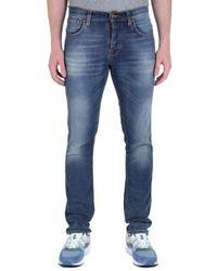 Nudie Jeans - Grim Tim Blue Wash Denim Jeans - Lyst